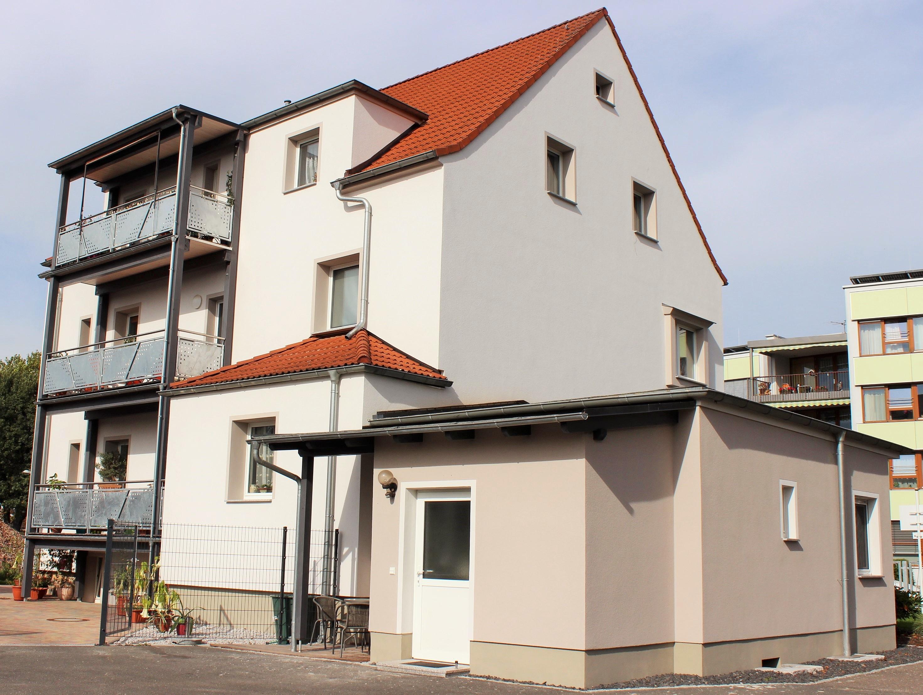 Fassadensanierung WDVS in Borna Rückseite
