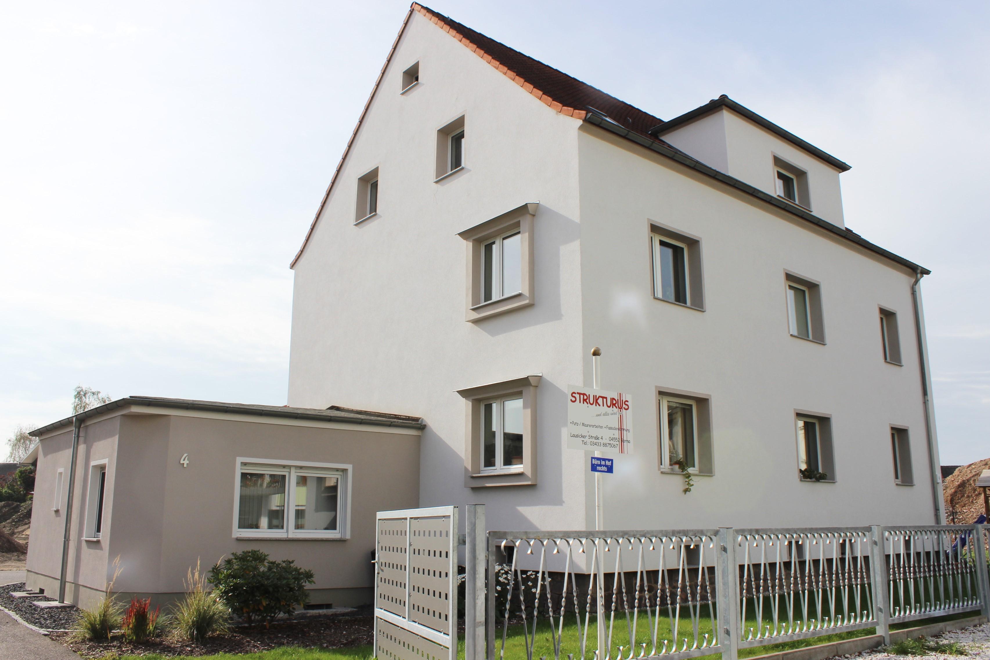 Fassadensanierung WDVS in Borna Vorderseite