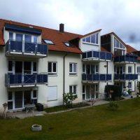 Giebelsanierung, Fassadenanstrich in Borna Rückansicht - Vorher