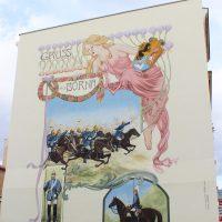 Untergrund für ein Wandbild in Borna - Nachher