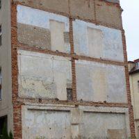 Untergrund für ein Wandbild in Borna - Vorher