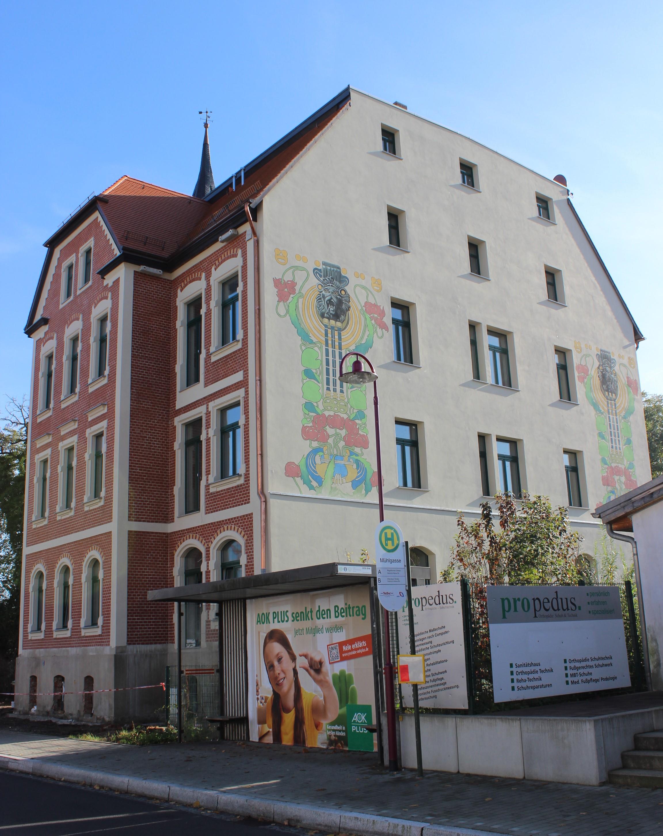Wohnhaus in Borna Nachher - Komplettsanierung Fassade, Trockenbau, Innenputz, Maurer- und Betonarbeiten